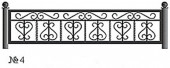Эскиз кованого декоративного ограждения №4