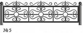 Эскиз кованого декоративного ограждения №5