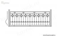 Кованый балкон эскиз №5