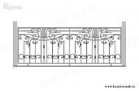 Кованый балкон эскиз №6