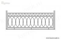 Кованый балкон эскиз №8