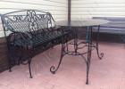 Кованая мебель на загородном участке