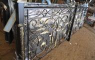 Секция кованого ограждения после производства