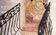 Перила кованые лестница на второй этаж