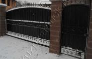 Ворота кованые с калиткой частный дом