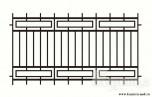 Сварной металлический забор №8