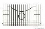 Сварной металлический забор №25