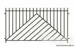 Сварной металлический забор №28