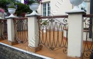 Ограда кованая