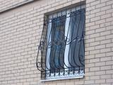 Объемная кованая решетка но окно