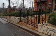 Кованые ворота частная территория