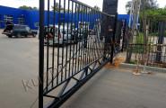 Автоматические раздвижные ворота из металла