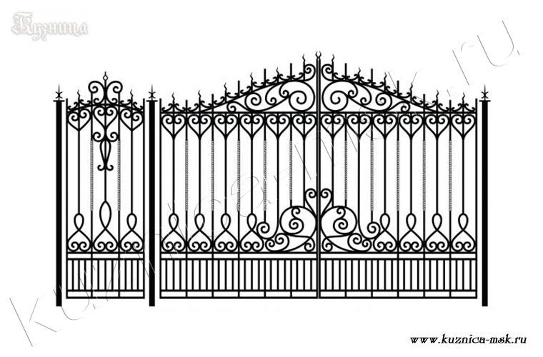 фото ворот кованных