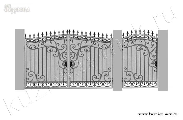 Кованные ворота схемы