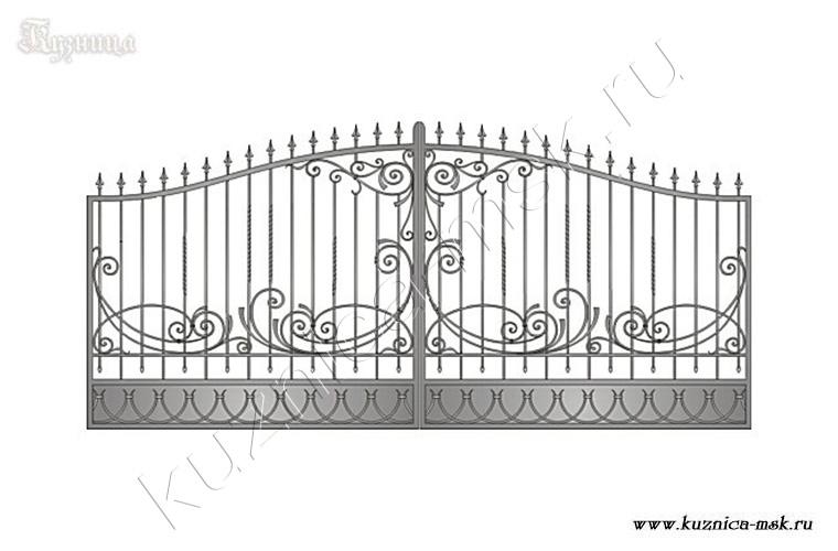 кованые рисунки на ворота фото