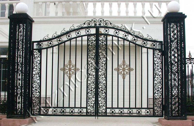 Элементов ковки для ворот (100 фото эскизов кованных узоров)