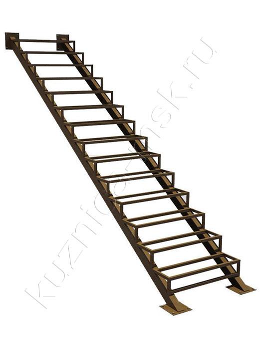 Лестница металлическая одномаршевая