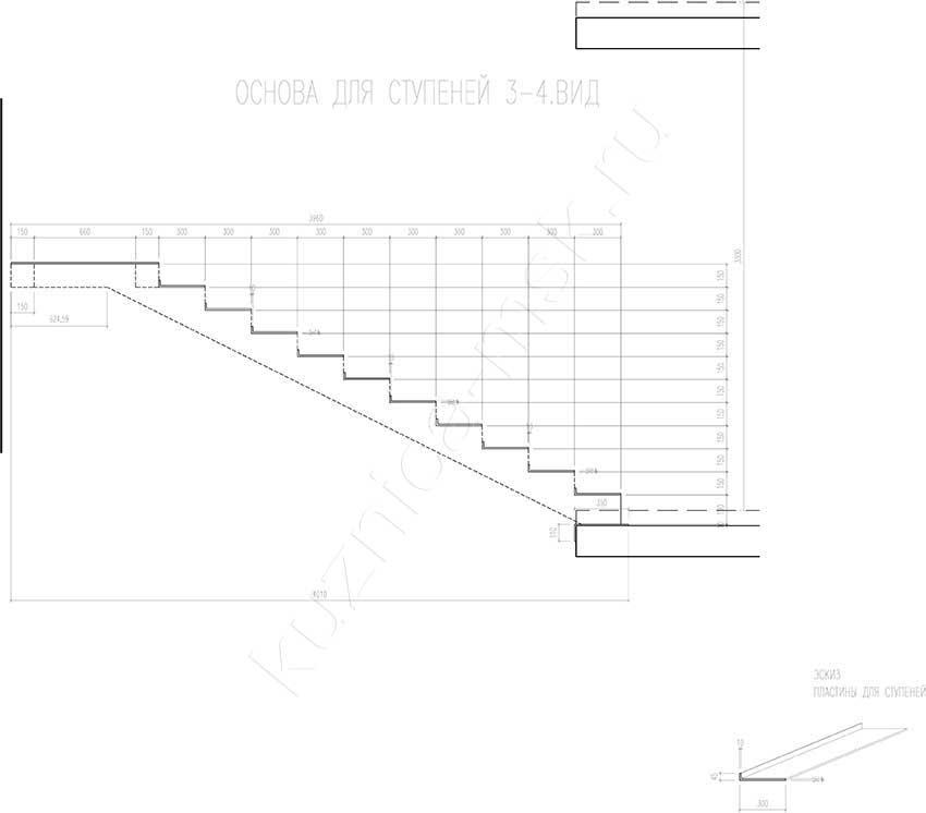 металлической лестницы №11