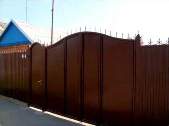 фото ворот и калиток из металла