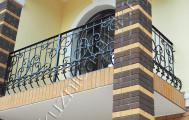Балконное кованое ограждение код: Б-704