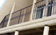 Балкон с кованым ограждением код: Б-717