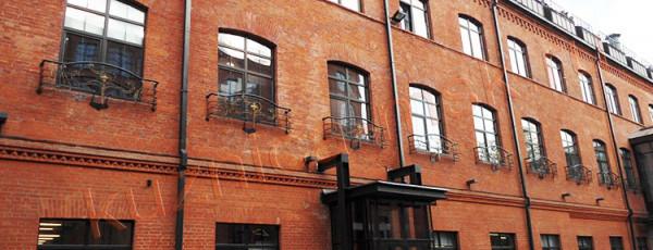 Балконы французские кованые фасад код: Б-798
