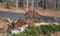Декоративные ограждения кованые садовые