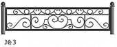 Эскиз кованого декоративного ограждения №3