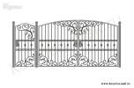 Эскиз кованых ворот и калитки №48