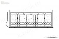 Кованый балкон эскиз №1