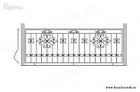 Кованый балкон эскиз №2
