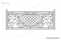 Кованый балкон эскиз №7