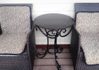 Журнальный столик кованый на терассе