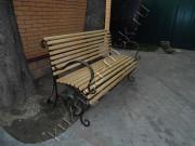 Кованая скамейка дачная