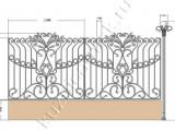 Кованый забор эскиз