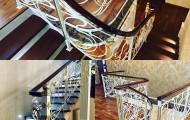 Кованые ограждения лестниц поворотные и прямые