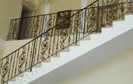 Кованые ограждения на лестнице