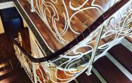Поворотные кованые перила для лестницы