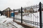 Кованый забор на заказ для загородного участка