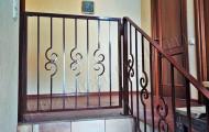 Перила коричневые кованые в доме № П-206