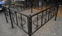 Ограда ритуальная по эскизу №3