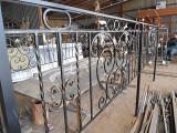 Ограда для могилы кованая, на производстве