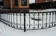 Забор ограждающий кованый