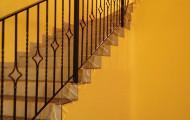 Ограждения лестницы с радиусом, ковка