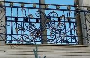 Балконное ограждение кованое декоративное