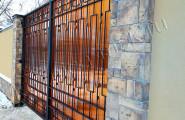 Ворота кованые на заказ с поликарбонатом
