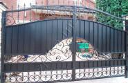 Ворота кованые, частный дом