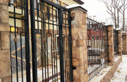 Кованый забор с установкой