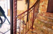 Ограждение кованое лестницы крыльца