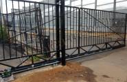 Автоматические откатные черные ворота